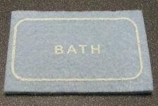 1:12 Scale Blue Bath Room Felt Rug Mat Dolls House Miniature Carpet Accessory