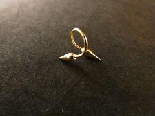 Piercing 24 Karat Gold Spiral Twister Brust Lippenpiercing Ohr Intim 9,3mm