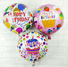2PCS Happy Birthday Party Balloons Decoration Supplies Round Foil Balloon