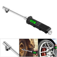 Car Digital Tire Pressure Gauge 230 PSI 4 Settings Heavy Duty Car Bicycle Larger