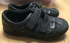 Clarks Size 9 F Girls School Black Shoes Leather