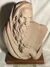 Bust of Moses Terracotta Sculpture by Arnold Bergier 1967 10 Commandments Austin