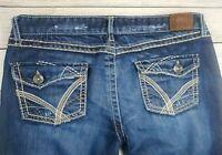 Buckle BKE Sabrina Skinny Designer Jeans Womens Size 31 x 35 Inseam