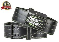 Genuine Leather Adjustable Weightlifting Belt: Heavy Duty Straight (Black SMALL)