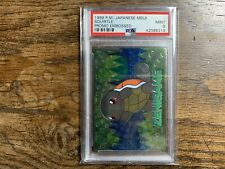 PSA 9 Squirtle Promo Embossed 1999 Pocket Monsters Pokemon Japanese Meiji Mint