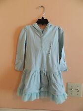 NWT baby Gap girl lite green ruffle bottom dress w/hood & mesh ruffle; 3T