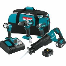 Makita XT447T 18V LXT Lithium-Ion Brushless Cordless Combo Kit (4 Piece)