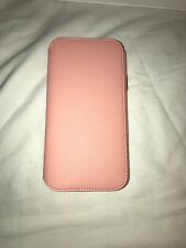 Genuine Original Official Apple iPhone X Leather Folio Case Soft Pink