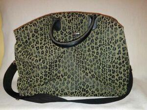 Diane Von Furstenberg DVF Leopard Cheetah Animal Print Weekender Travel Bag