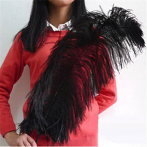"""Wholesale 10-100pcs """"thick stem""""  male ostrich feathers 16-32 inches / 15-80 cm"""