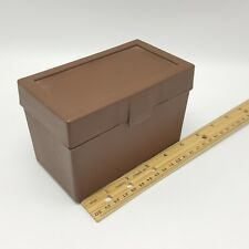 Brown Index Card Box Recipe Sterling USA 3x5 inch 528 Plastic Borden