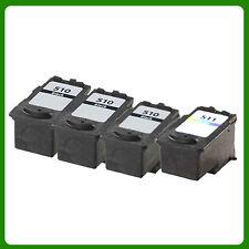 3 x PG510 Black & 1x CL511 Colour Ink Cartridge For Canon PIXMA MP492 Printer