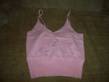 LADIES PINK HALTER / TUBE TOP  SIZE L NEW  FREE S/H