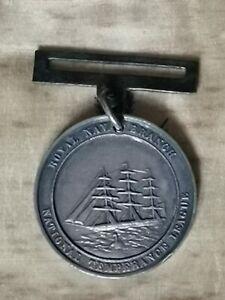 Solid Silver victorian Temperance Medal Dated 1868 HMS Reindeer