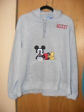 Vtg Disney Mickey Mouse Unisex Mens Womens Pullover Hoodie Sweatshirt Gray SZ XL