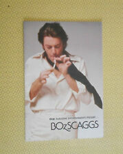 1977 BOZ SCAGGS AUSTRALIAN CONCERT TOUR PROGRAMME with supporting Artist DRAGON