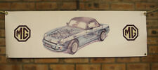 mg rv8 pvc WORK SHOP BANNER garage classic car SHOW