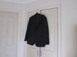 Men  Jacket design Fletcher Jones  Size 107 R   Dark Grey Light Grey pencil line