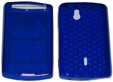 TPU Front & Back Gel Case Cover BLUE For Sony Ericsson Xperia Mini Pro SK17i