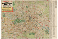 Map of Berlin; Antique Map; by Pharus, 1922