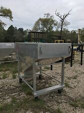 1/2 Yard Aluminum Resin Bin, Aluminum Hopper Silo Feeder, Bulk Feed Bin
