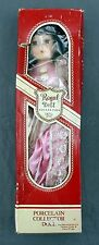 """Regal Doll Collection Bisque Porcelain Hand Painted 16"""" Pink Floral Dress Doll"""