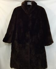 Women's Brown  Fur Hand Made Coat Size 16