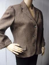 Size 12 AMERICAN LIVING Brown 100% Wool Jacket Coat (Blazer style) Lined HOT BUY
