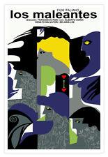 Cuban movie Poster for Italian film Los MALEANTES.Misfits.Crooks.Home Decor Art