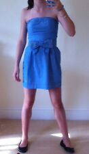 Hollister royal blue with thin white stripes strapless summer dress XS