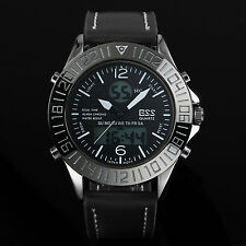 Analoge & Digitale Armbanduhren aus Kunstleder mit Chronograph