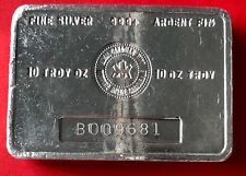 Vintage 10oz Royal Canadian Mint RCM bar .999 Silver - B Series