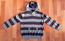 Boys Blue Striped Cotton Hoodie Jumper by TU, 5 Years