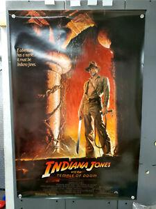 "Original 1984 Indiana Jones & Temple of Doom 1-Sheet Movie Poster-27""x40"" Rolled"