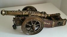 Cannone medioevale in bronzo  Ancient Medieval bronze and wood cannon Vintage