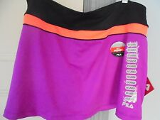 FILA Sze XXL $45 new SPORT PERFORMANCE SKIRT SKORT Color Block Fuchsia key pocke