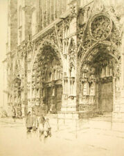 Andrew Affleck (Scottish) pencil signed etching; 'Vienne, France'