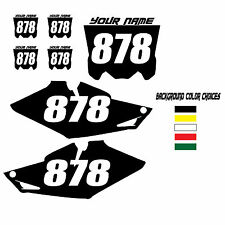 2014-2015 HONDA CRF 250R CUSTOM NUMBER PLATE BACKGROUND GRAPHICS MX DECALS