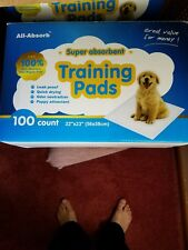 all-absorb training pads 22-inch by 23-inch. 100 count