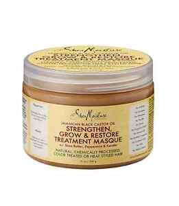 Shea Moisture Strengthen, Grow - Restore Treatment Masque 12 oz (Pack of 2)