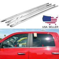 4pc Stainless Window Sills fits 2019-2020 RAM 1500 Quad Cab by Brighter Design