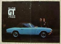 GLAS 1300 GT & 1700 GT Car Sales Brochure June 1966 GERMAN TEXT
