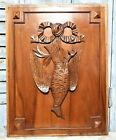 Bird Hunting Scene Trophy Panel Antique French Wooden Architectural Salvage B