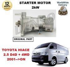 für Toyota Hiace 2.5 D4D 2001> nach NEU, Original Denso Anlasser