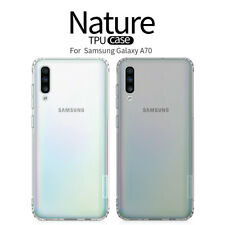 For Samsung Galaxy A70 Genuine Nillkin Flexible Thin Soft TPU Clear Case Cover