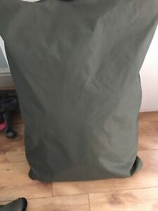 Waterproof Dog Bed Cushion waxed cotton  Removable inner Military Grade Cover