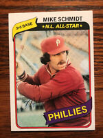 1980 Topps #270 Mike Schmidt Baseball Card HOF Raw Philadelphia Phillies