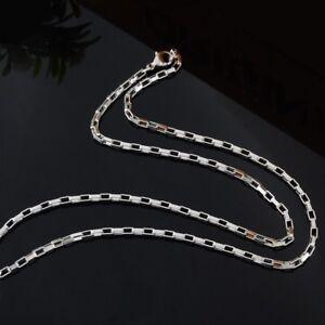 Titanium Anker Glieder Kette Halskette Vierkant Titan Damen Herren kurze lange