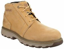 Mens CAT Caterpillar PARKER S1P Steel Toe Safety Work Boot Size UK 7 41 Honey