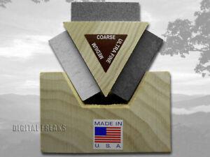 Case xx Arkansas Stone & Honing Oil Tri-Hone Sharpening Kit for Knives 9399